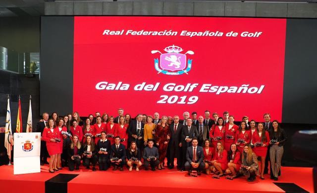 Reconocimiento a nuestras golfistas en la Gala del Golf Español 2019
